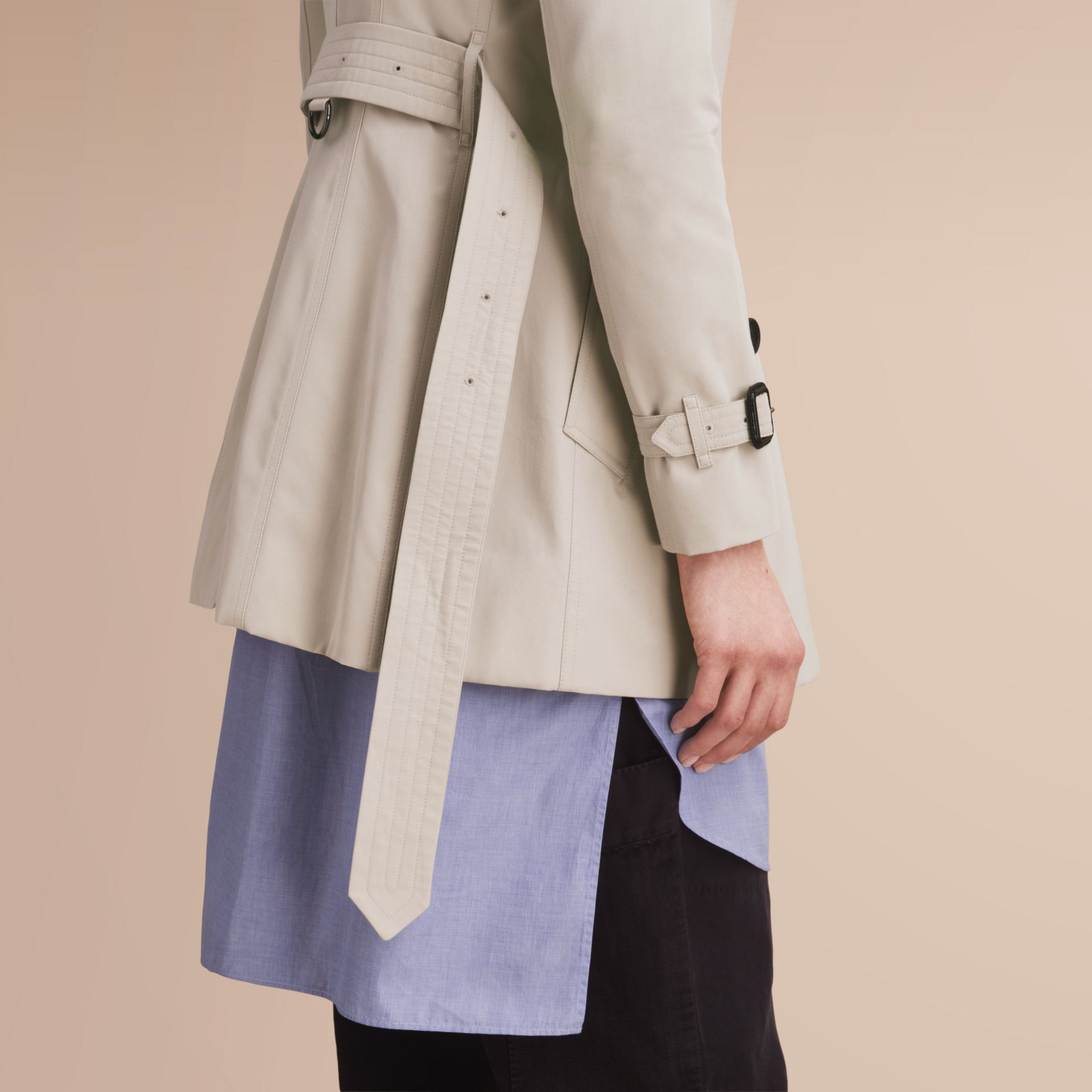 The Chelsea – Short Heritage Trench Coat in Stone - gallery image 6