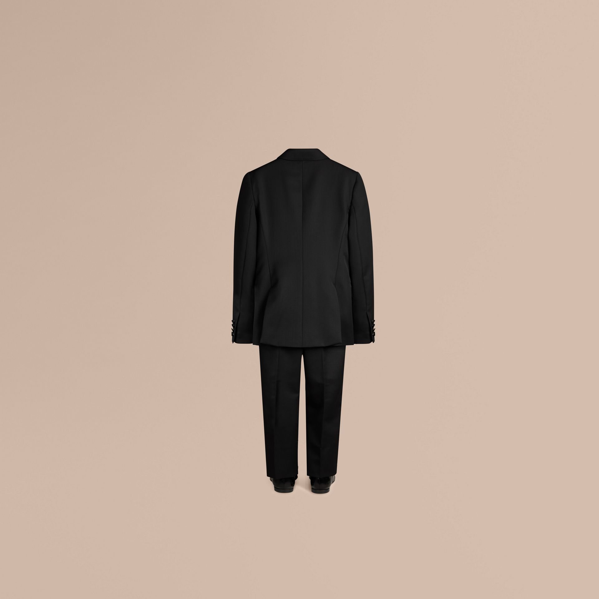 Black Wool Tuxedo Jacket - gallery image 3