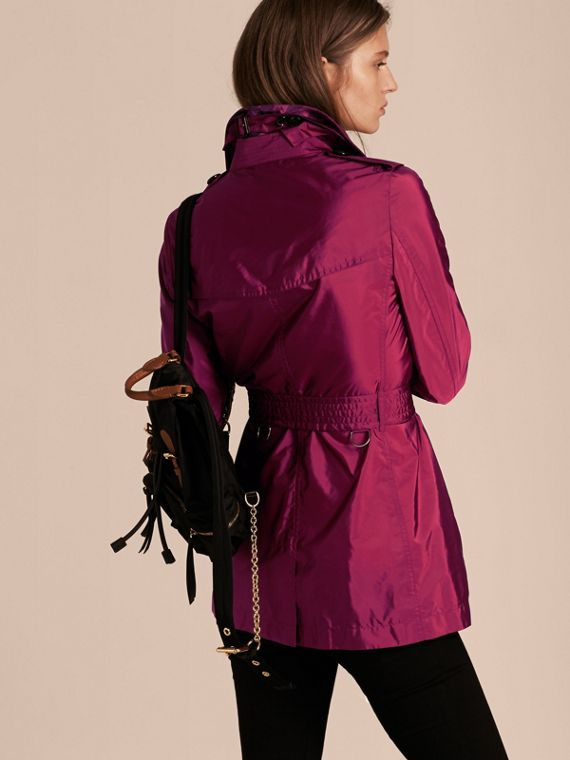 Lightweight Trench Coat in Berry Pink - cell image 2