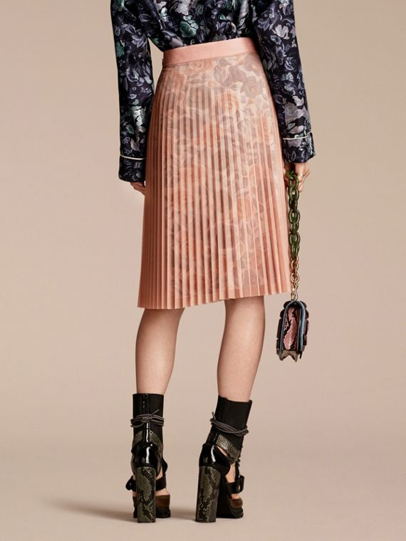 Watercolour Rose Print and Pleated Tulle Skirt in Pale - cell image 2