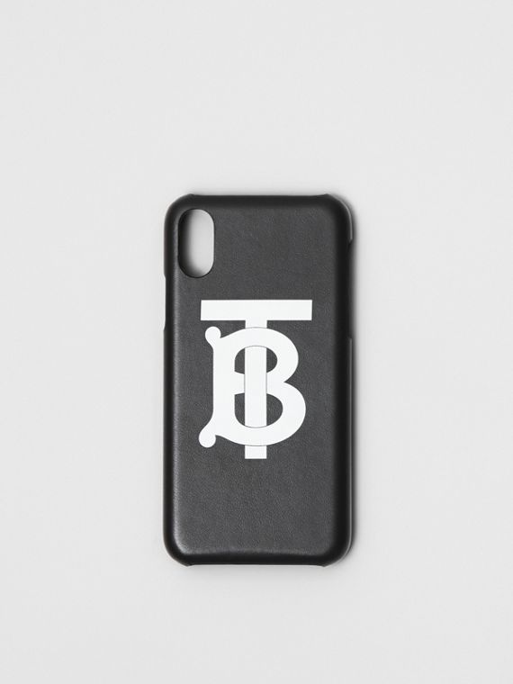 Футляр для iPhone X/XS с монограммой Burberry (Черный)