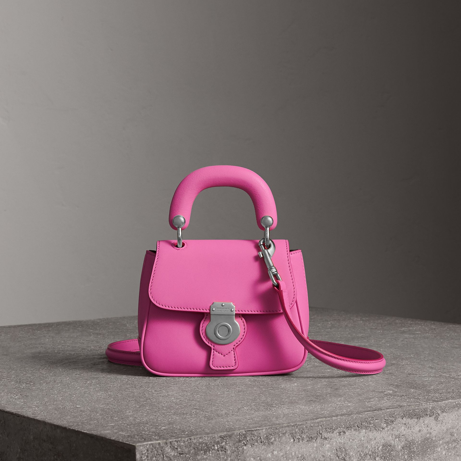The Mini DK88 Top Handle Bag in Rose Pink - Women | Burberry - gallery image 0