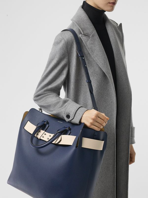 The Large Leather Belt Bag in Regency Blue - Women | Burberry Singapore - cell image 2