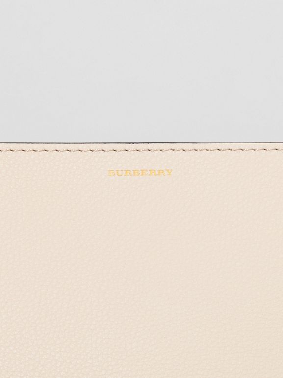 Medium Tri-tone Leather Clutch in Limestone/cornflower Yellow | Burberry - cell image 1