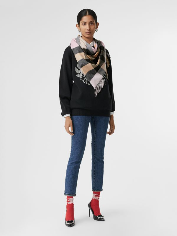 The Burberry Bandana in cashmere con motivo tartan (Pale Blossom) | Burberry - cell image 2