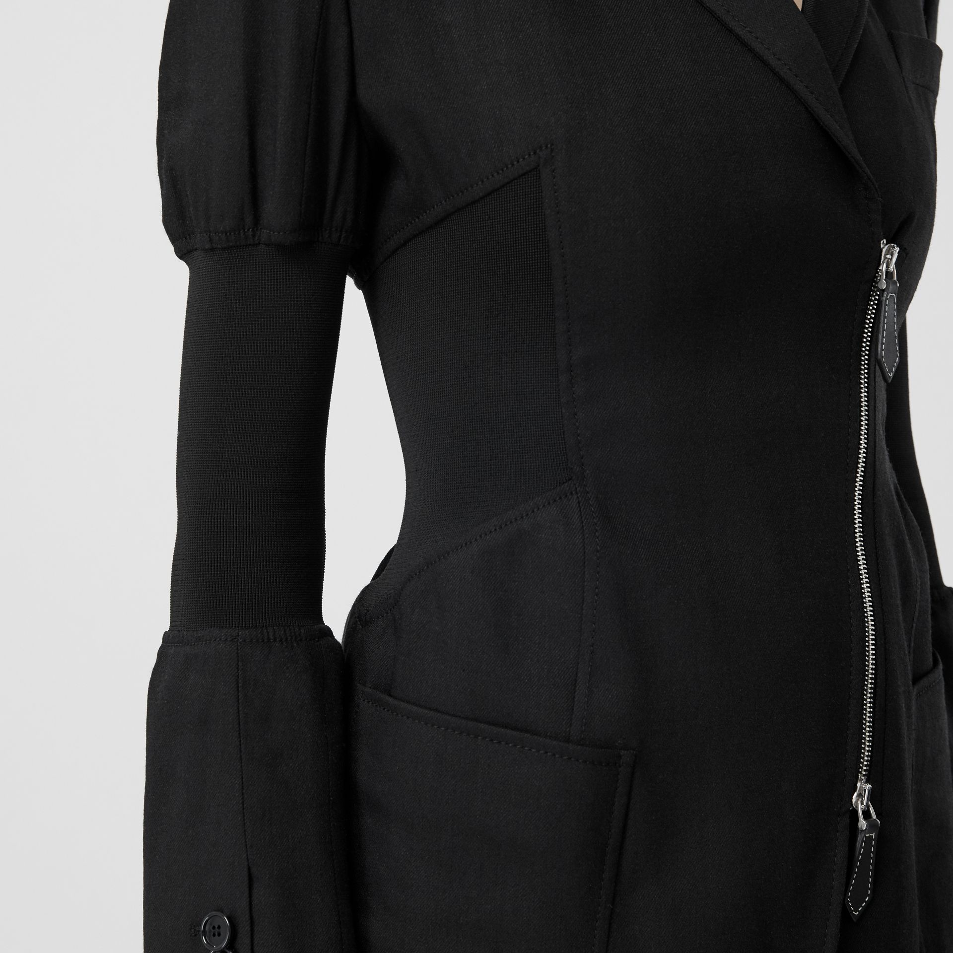Technical Twill Reconstructed Blazer in Black - Women | Burberry - gallery image 5