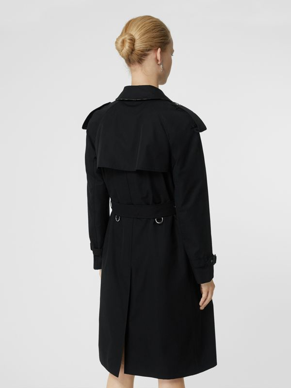 Press-stud Detail Cotton Gabardine Trench Coat in Black - Women | Burberry - cell image 2