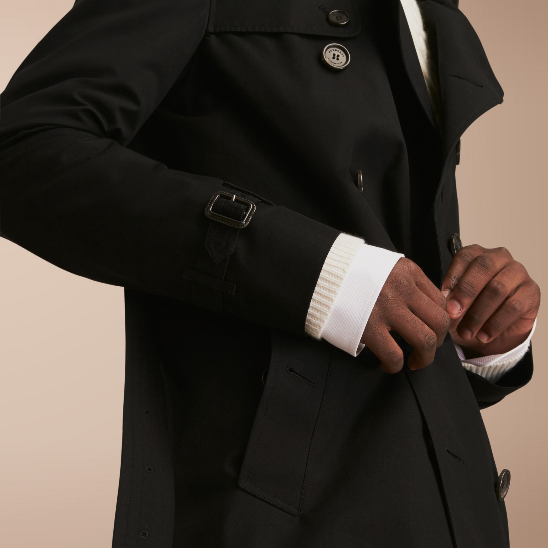 The Kensington – Long Heritage Trench Coat in Black - gallery image 5