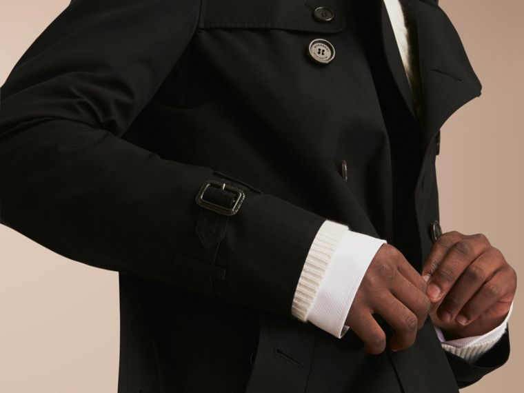 The Kensington – Long Heritage Trench Coat in Black - cell image 4