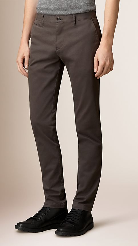 Flint Slim Fit Stretch-Cotton Twill Chinos - Image 1