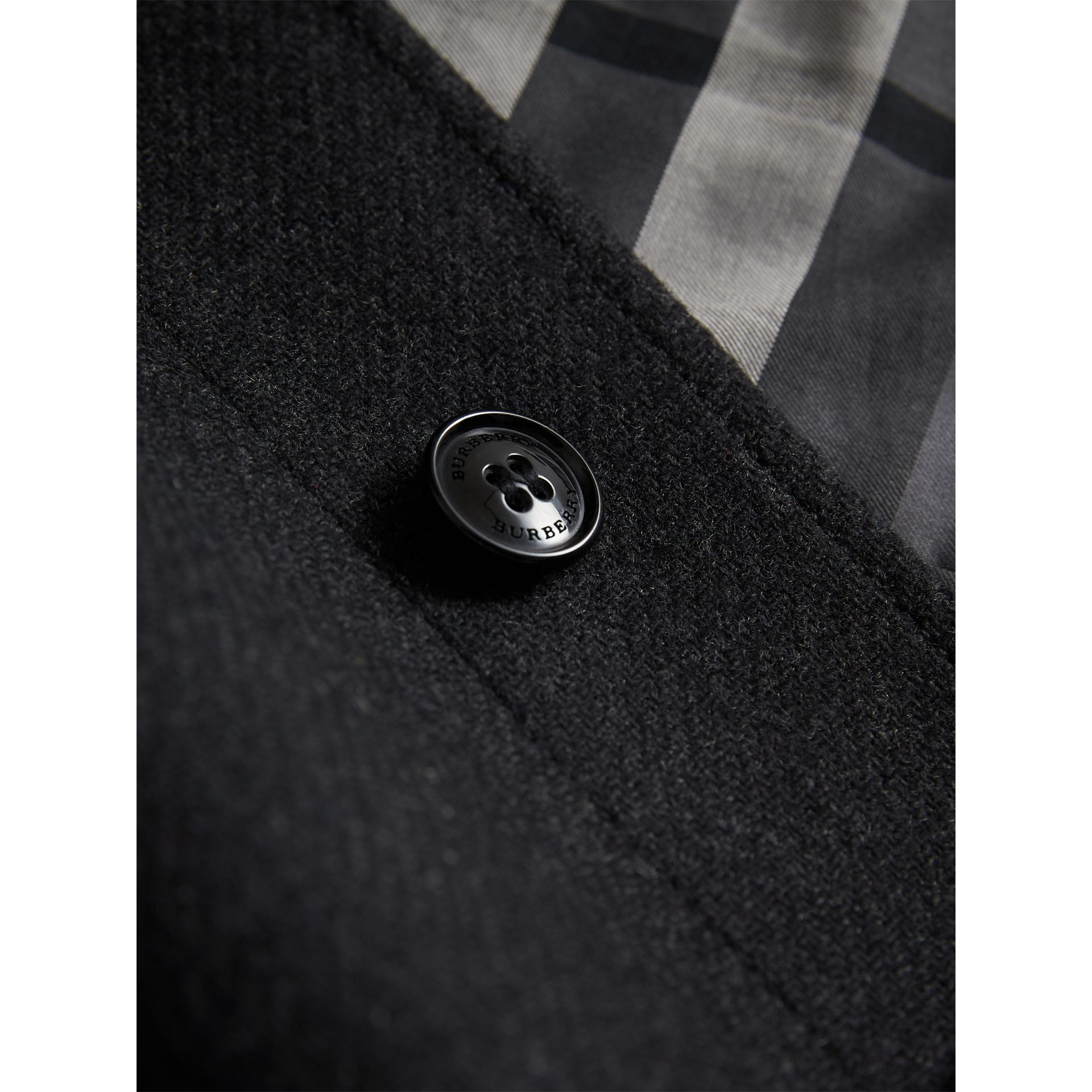 Wool Cashmere Blend Car Coat in Dark Grey Melange - Boy | Burberry - gallery image 1