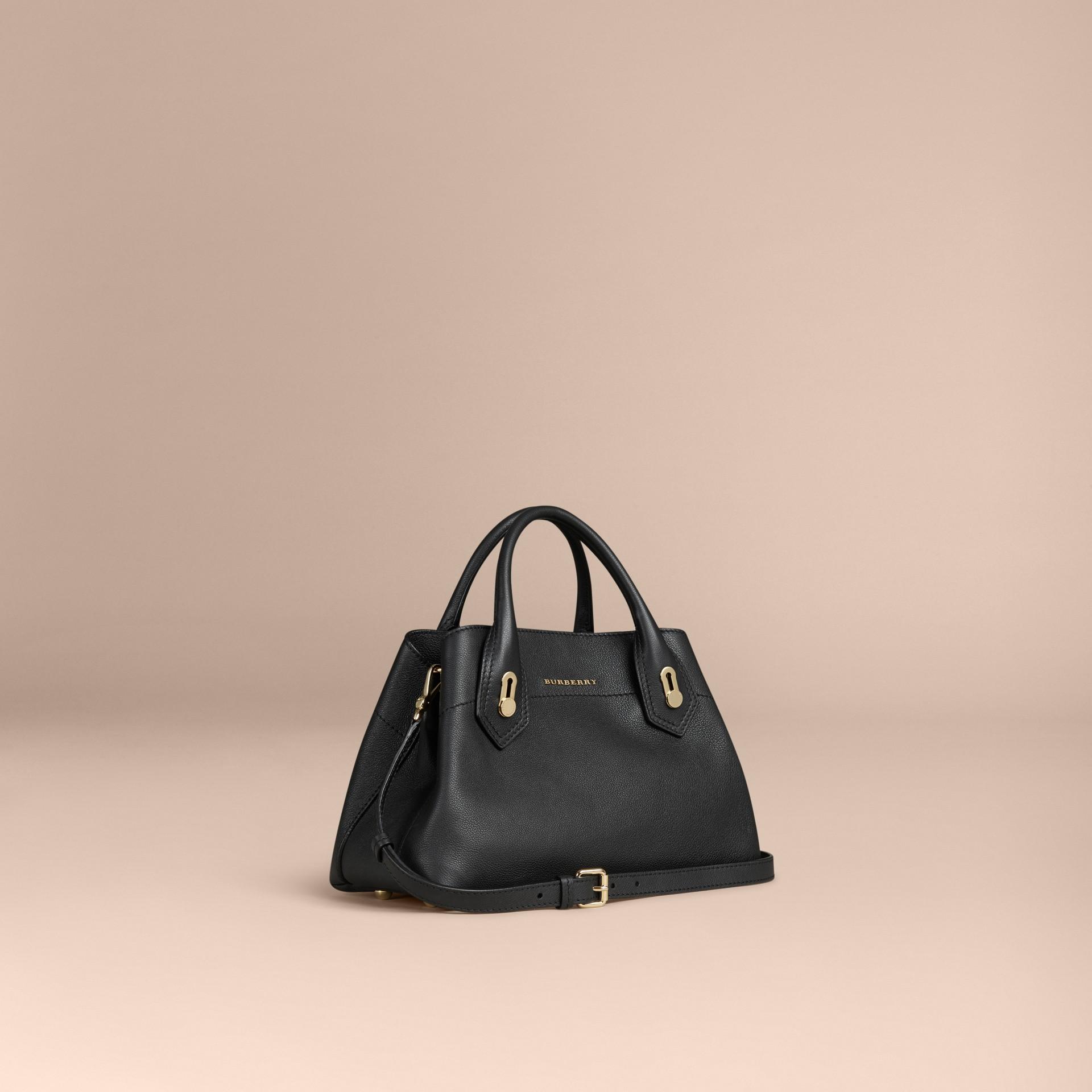 Noir Petit sac The Milton en cuir grené Noir - photo de la galerie 1