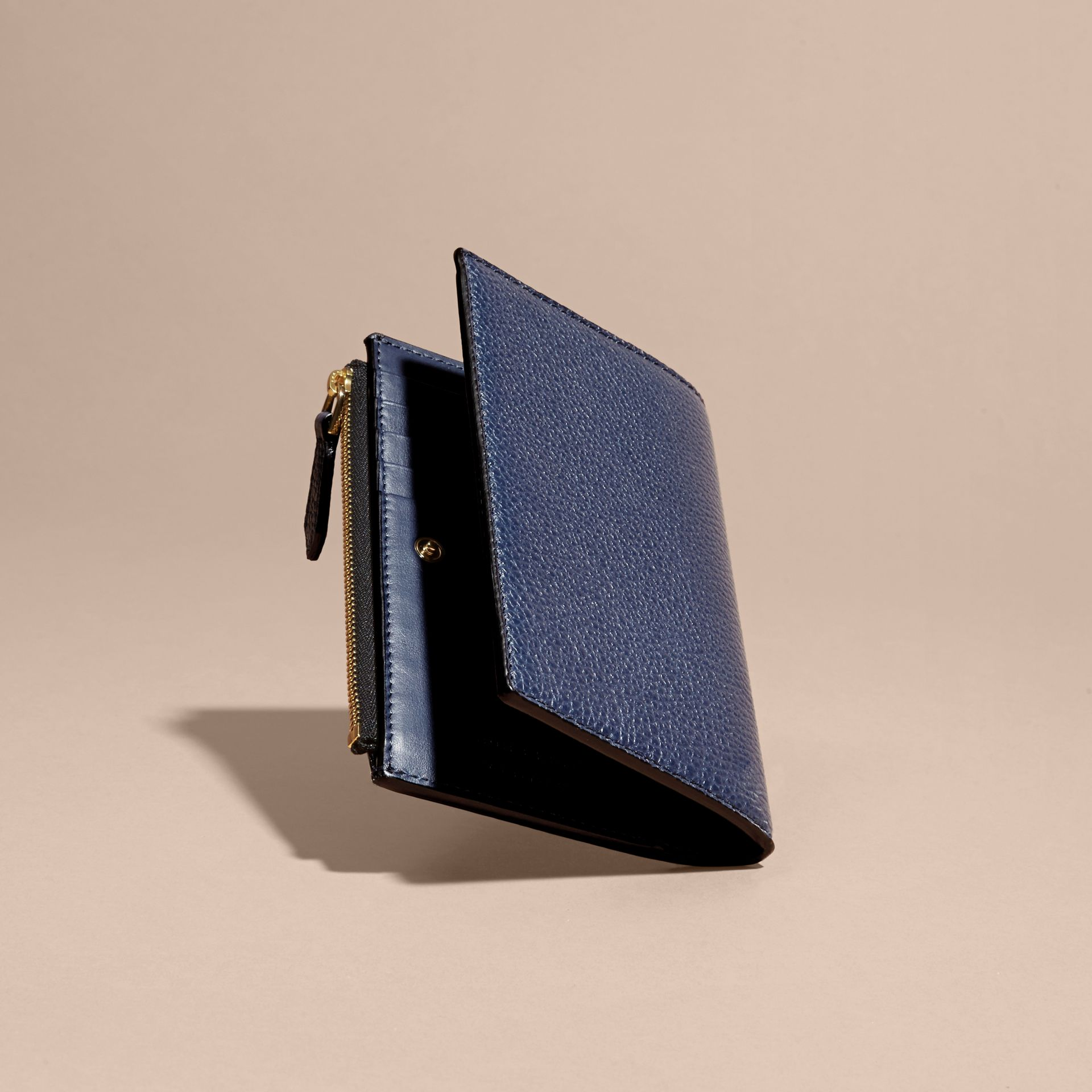 Leather Passport Wallet in Bright Navy | Burberry - gallery image 5