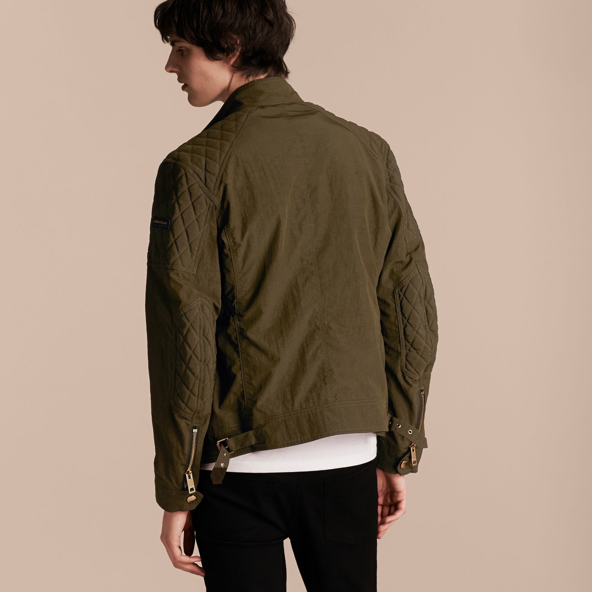 Diamond Quilt Detail Field Jacket - gallery image 3
