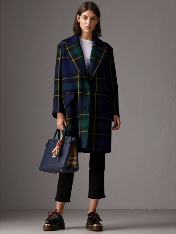 The Medium Banner aus Leder und House Check-Gewebe (Tintenblau) - Damen | Burberry - cell image 2