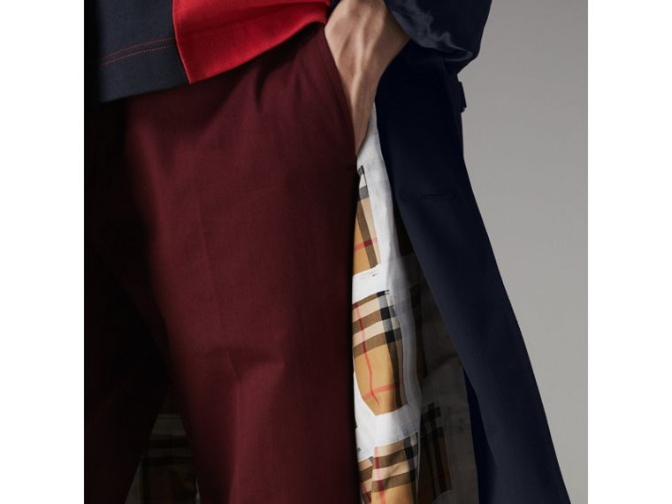 Painted Vintage Check-lined Gabardine Trench Coat in Ink Blue - Men | Burberry - cell image 4