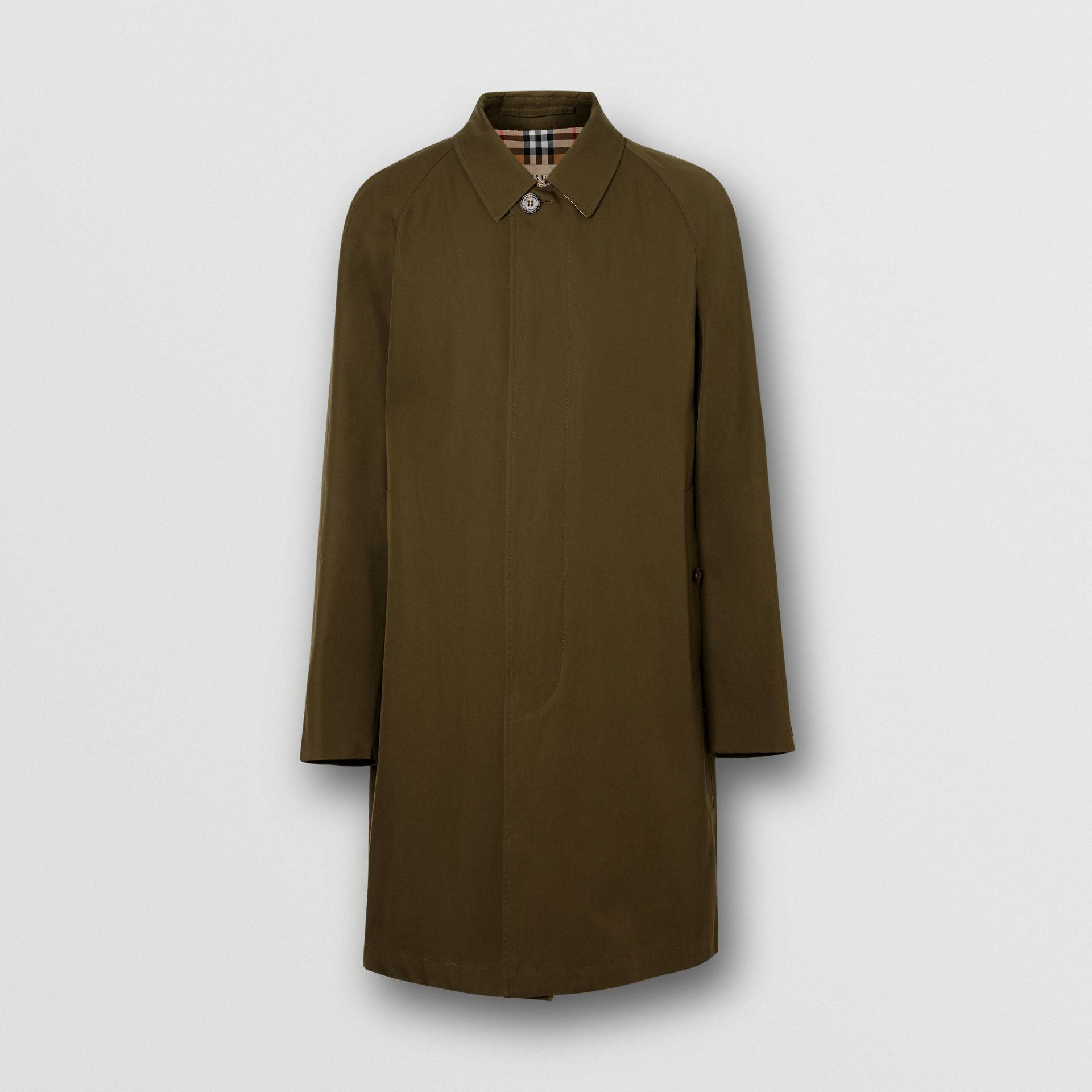 The Camden Car Coat in Dark Military Khaki - Men | Burberry United Kingdom - gallery image 3