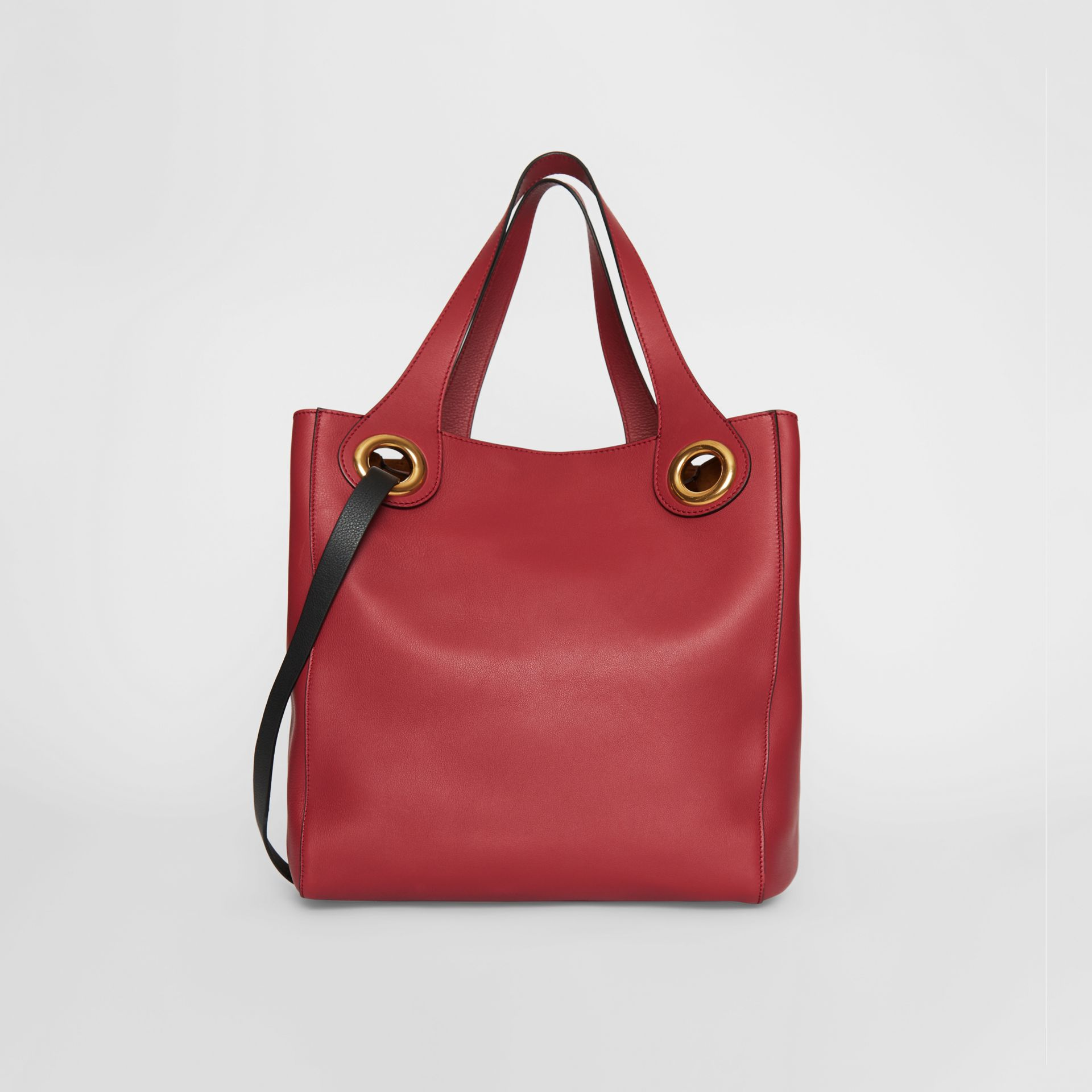 The Medium Leather Grommet Detail Tote in Crimson - Women | Burberry - gallery image 5