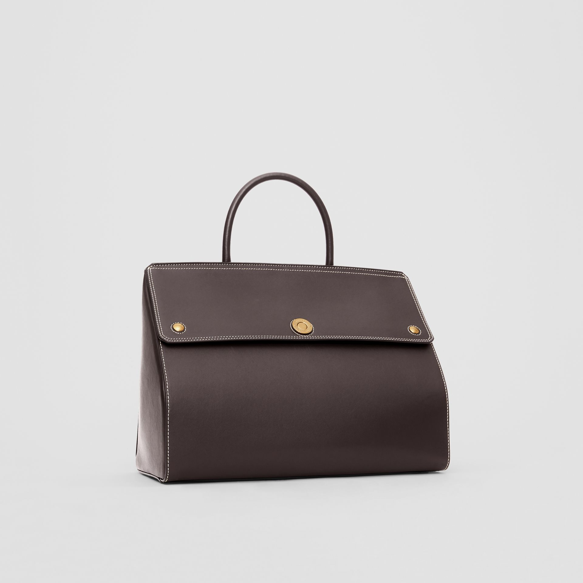 Medium Leather Elizabeth Bag in Coffee - Women | Burberry - gallery image 6