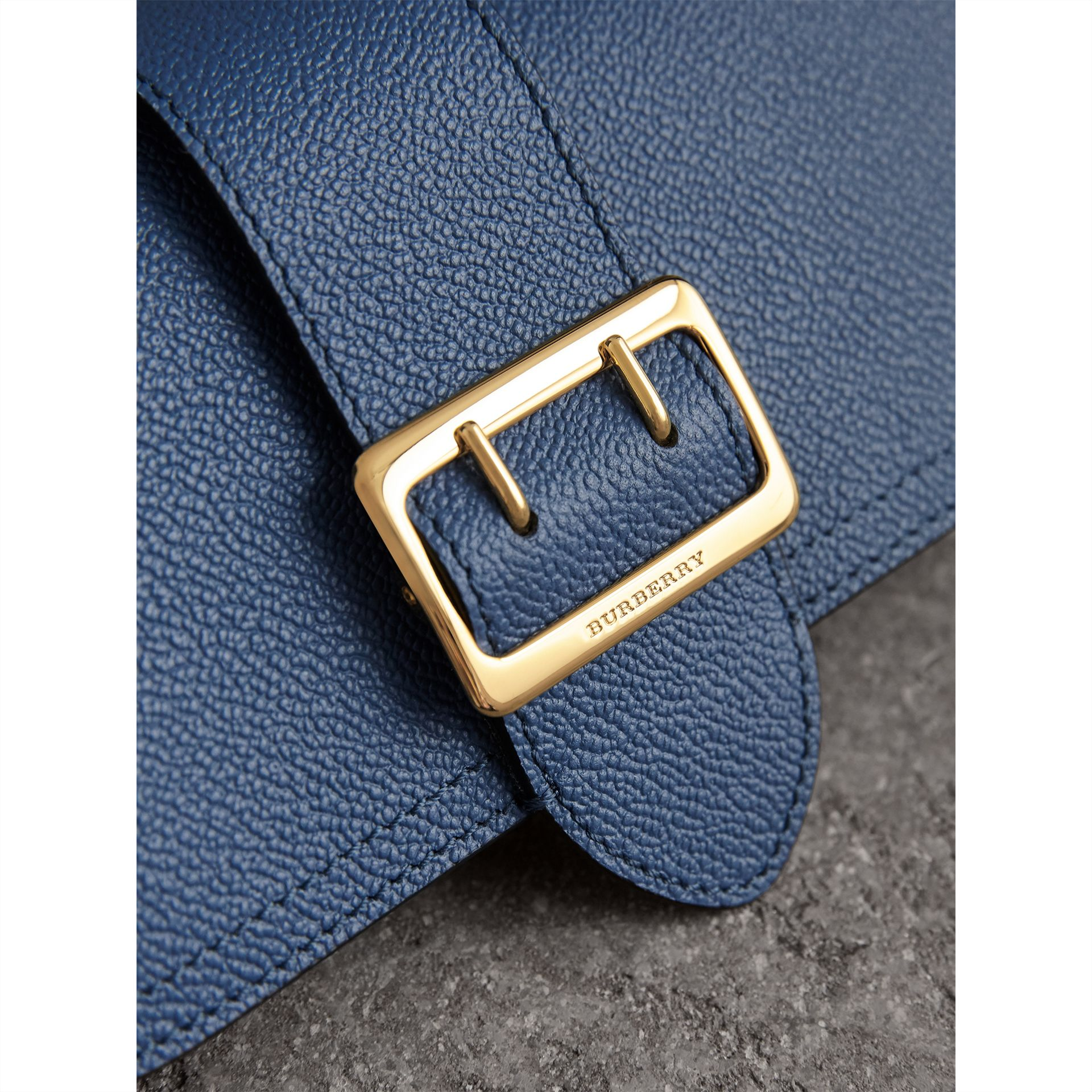 Textured Leather Continental Wallet in Steel Blue - Women | Burberry - gallery image 2