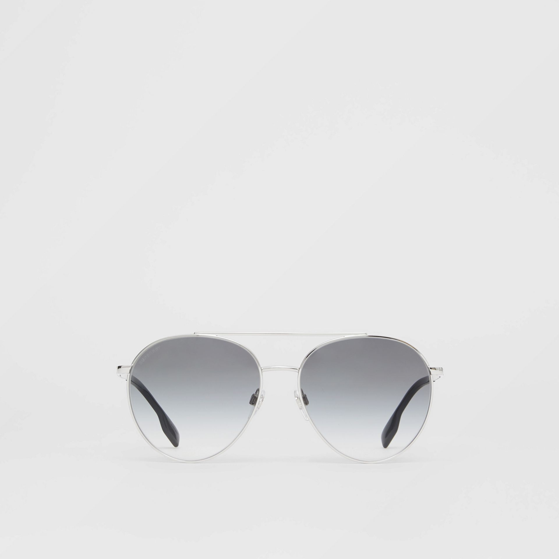 Pilot Sunglasses in Grey - Women | Burberry - gallery image 0