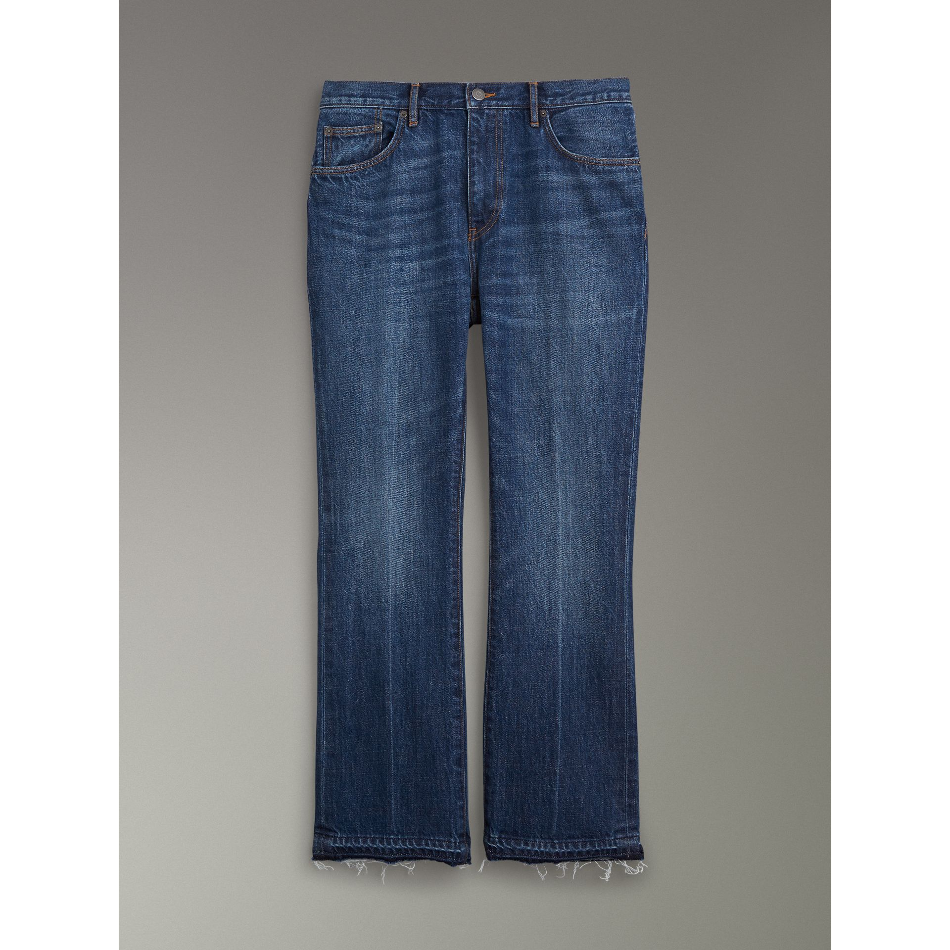 Slim Fit Bootcut Jeans in Indigo Blue - Men | Burberry United Kingdom - gallery image 3