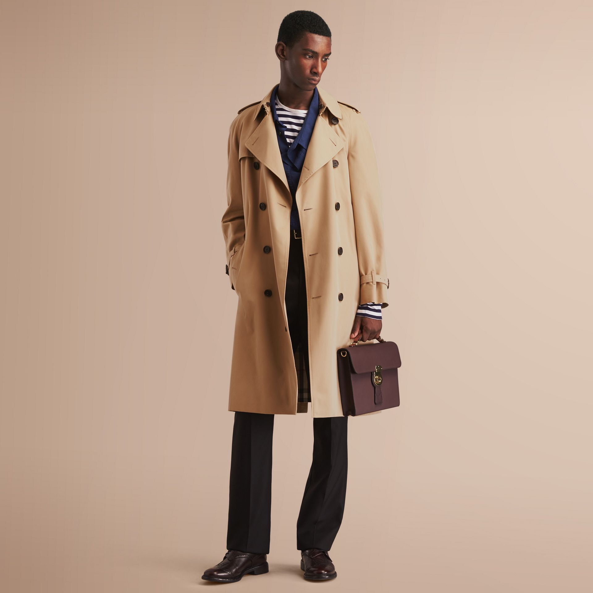 The Westminster – Long Heritage Trench Coat in Honey - gallery image 1