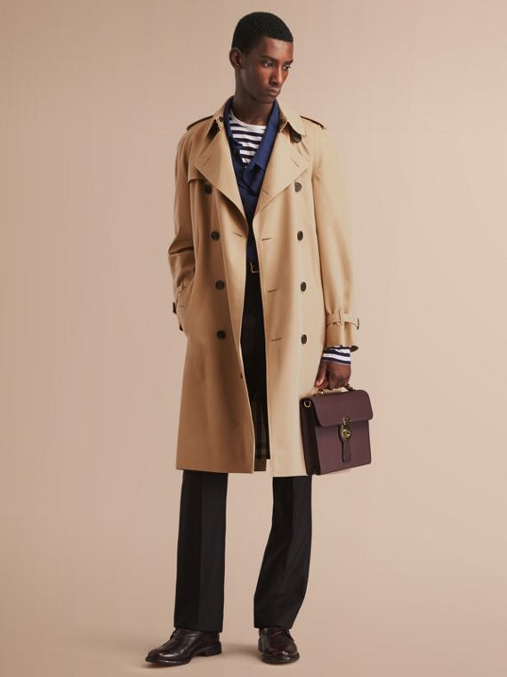 The Westminster – Long Heritage Trench Coat in Honey - Men | Burberry Australia