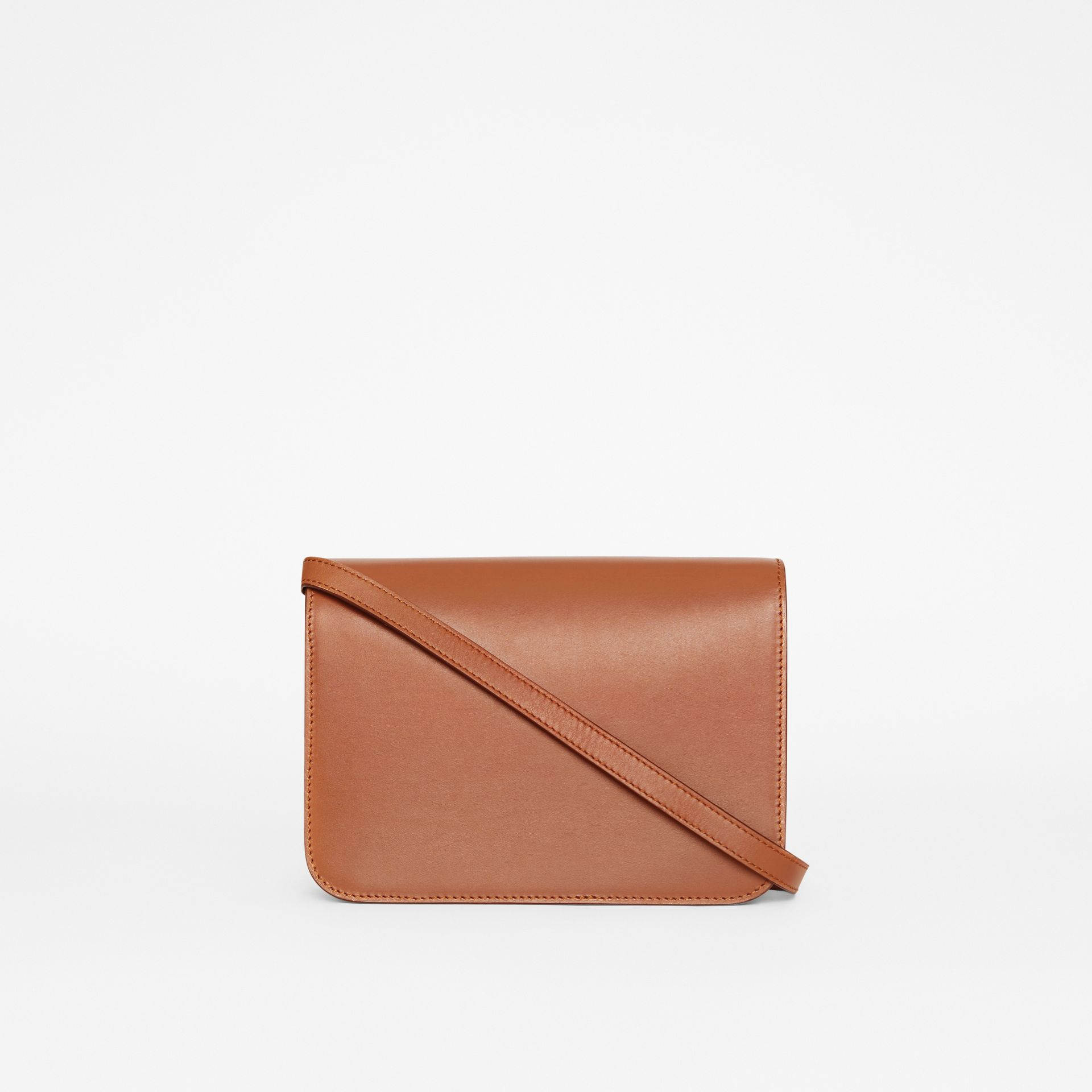 Small Leather TB Bag in Malt Brown - Women | Burberry - gallery image 7
