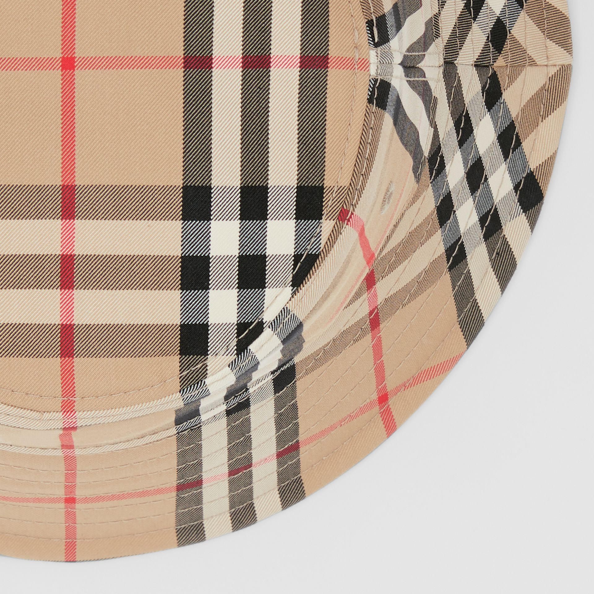 Vintage Check Cotton Blend Bucket Hat in Archive Beige | Burberry United Kingdom - gallery image 7