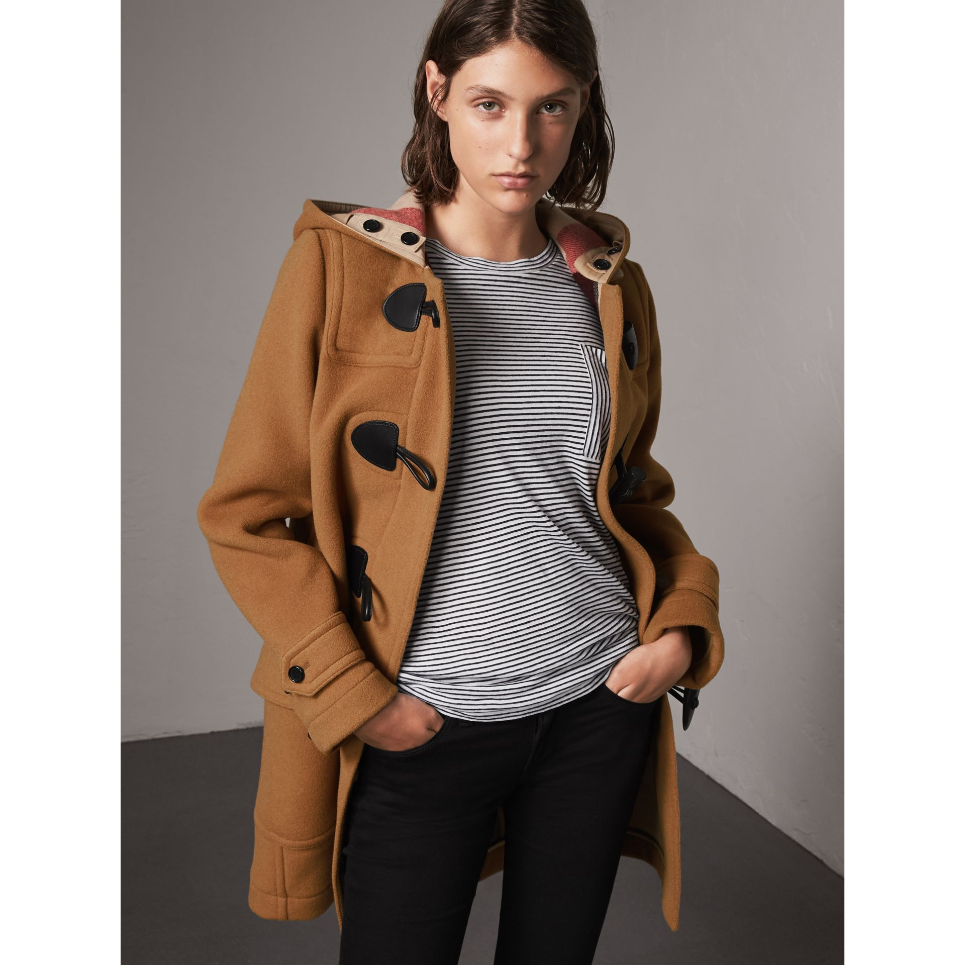The Mersey Duffle Coat in Mid Camel - Women | Burberry Singapore - gallery image 5
