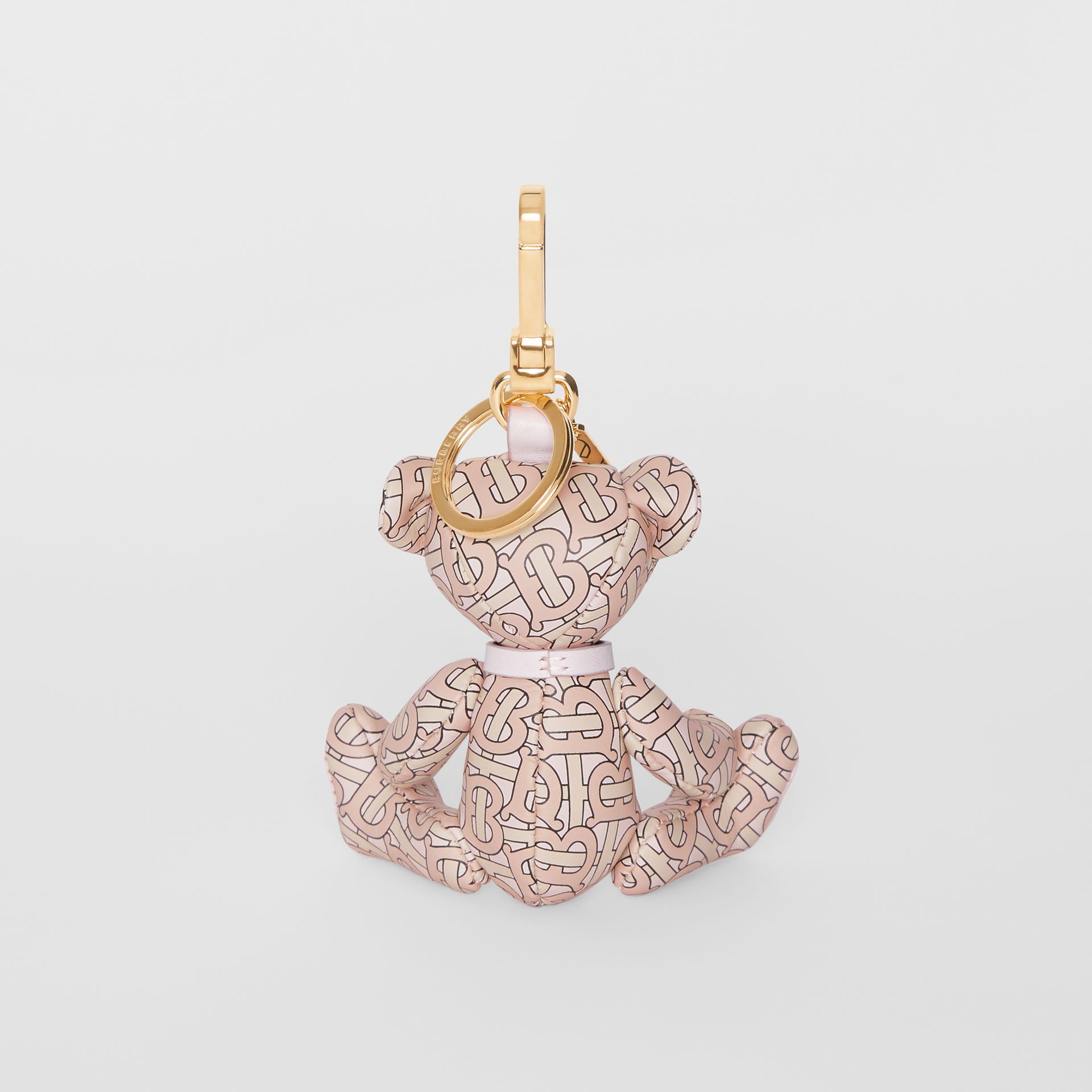 Bijou porte-clés Thomas Bear en cuir Monogram (Rose Blush) - Femme | Burberry - photo de la galerie 3