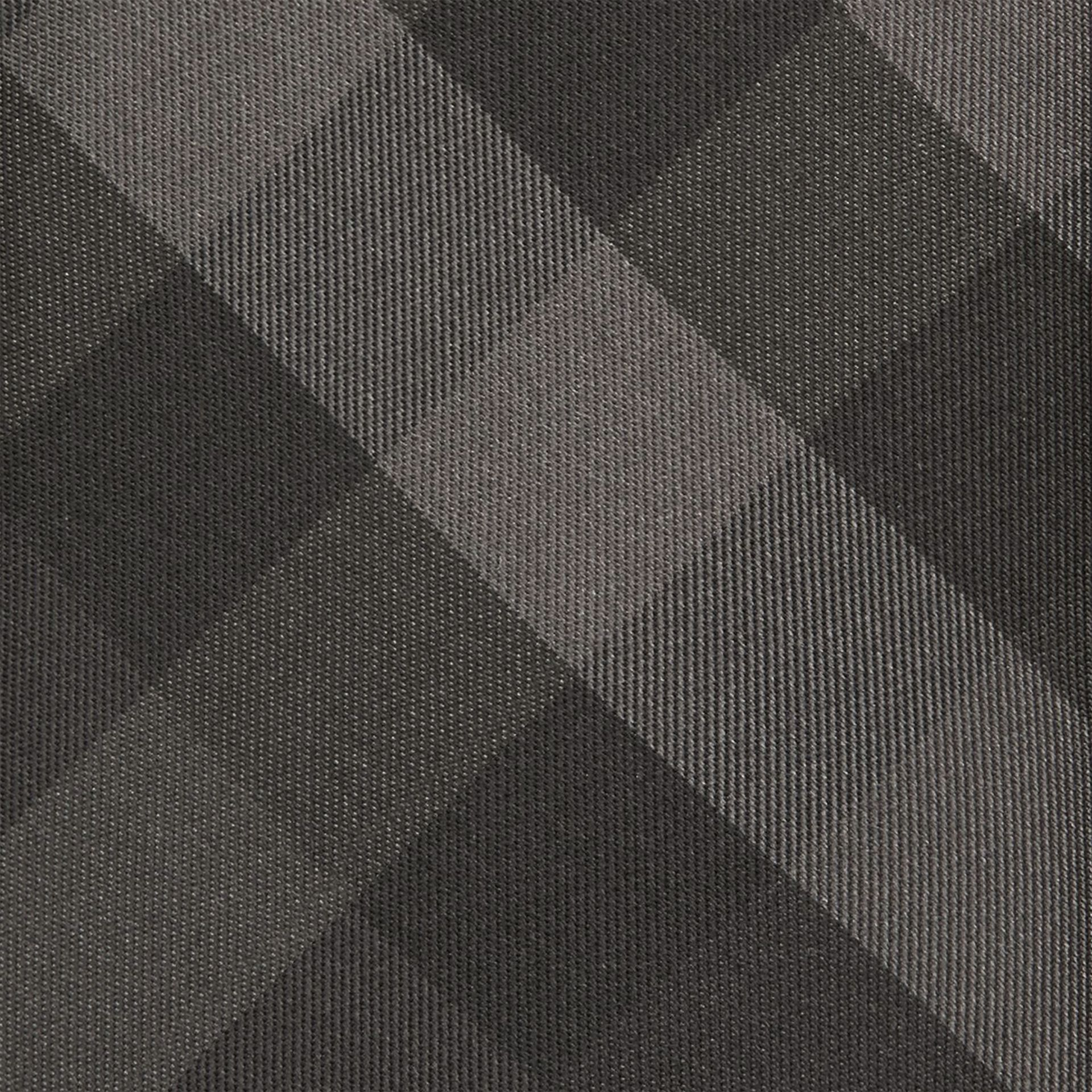 Classic Cut Check Silk Tie in Charcoal - Men | Burberry United States - gallery image 1
