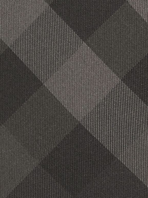 Classic Cut Check Silk Tie in Charcoal - Men | Burberry United States - cell image 1