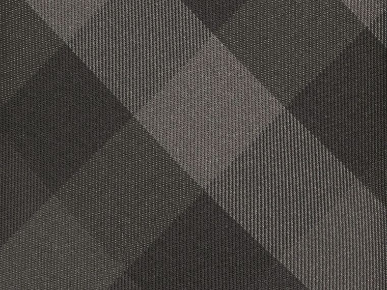 Classic Cut Check Silk Tie in Charcoal - Men | Burberry - cell image 1