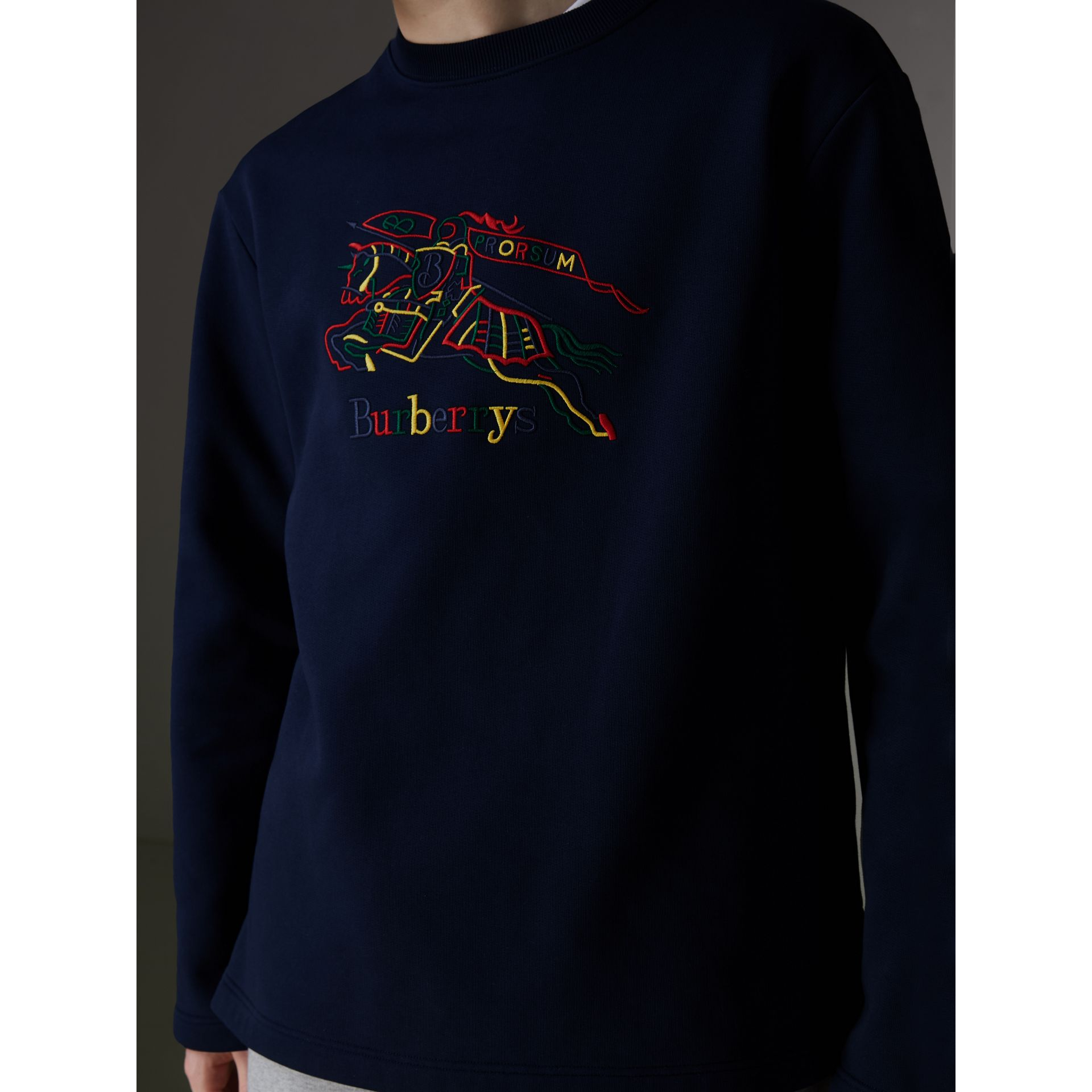 Reissued Jersey Sweatshirt in Dark Blue - Men | Burberry United Kingdom - gallery image 1