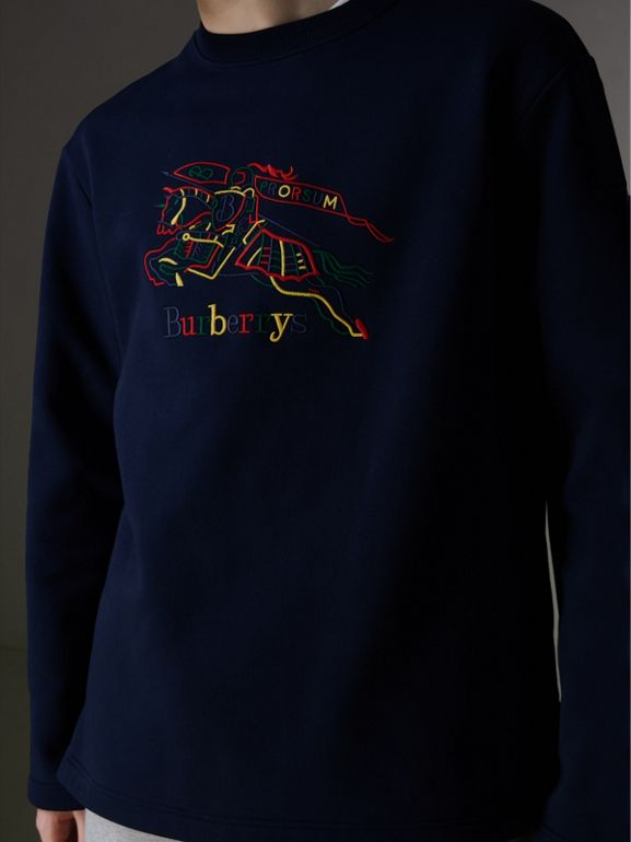 Reissued Jersey Sweatshirt in Dark Blue - Men | Burberry United Kingdom - cell image 1
