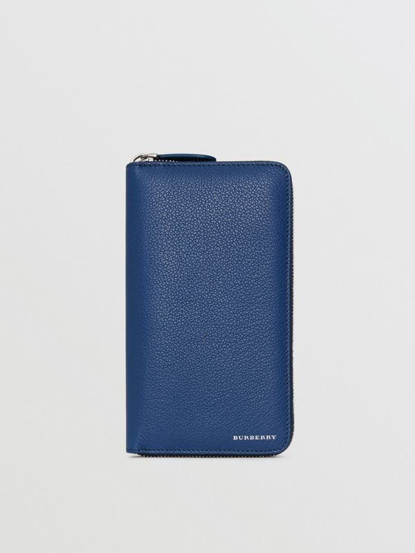 Grainy Leather Ziparound Wallet in Bright Ultramarine - Men | Burberry Hong Kong - cell image 2