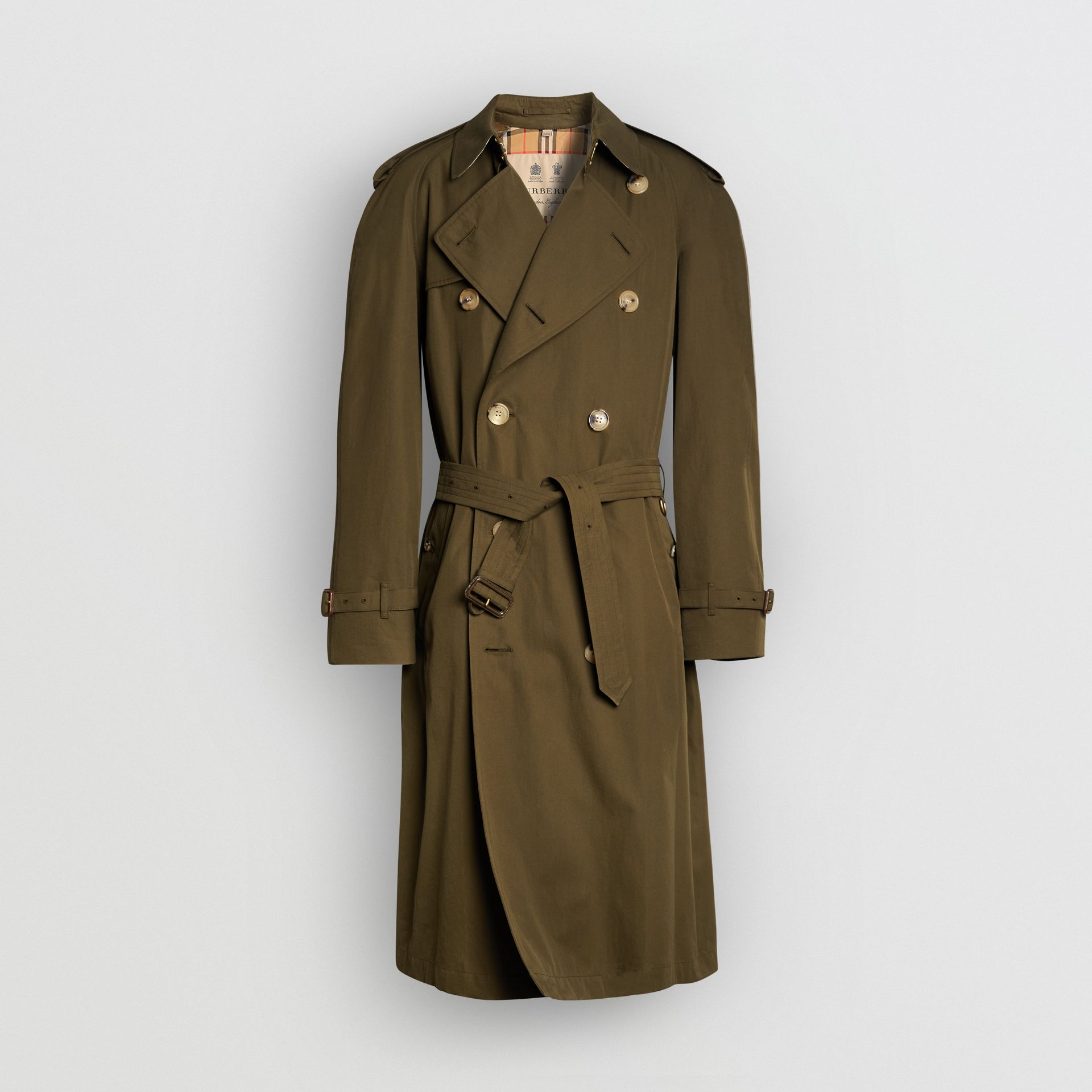 The Westminster Heritage Trench Coat in Dark Military Khaki - Men | Burberry Hong Kong - gallery image 3