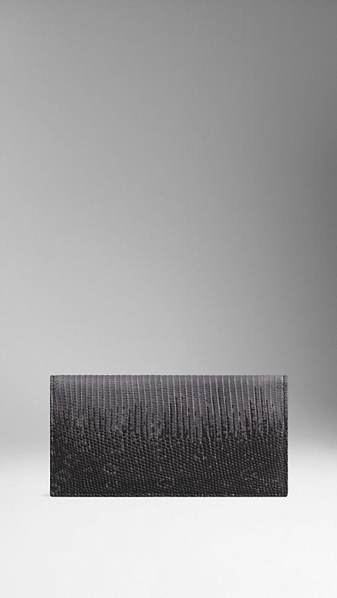 Mid grey melange Lizard Folding Wallet - Image 1