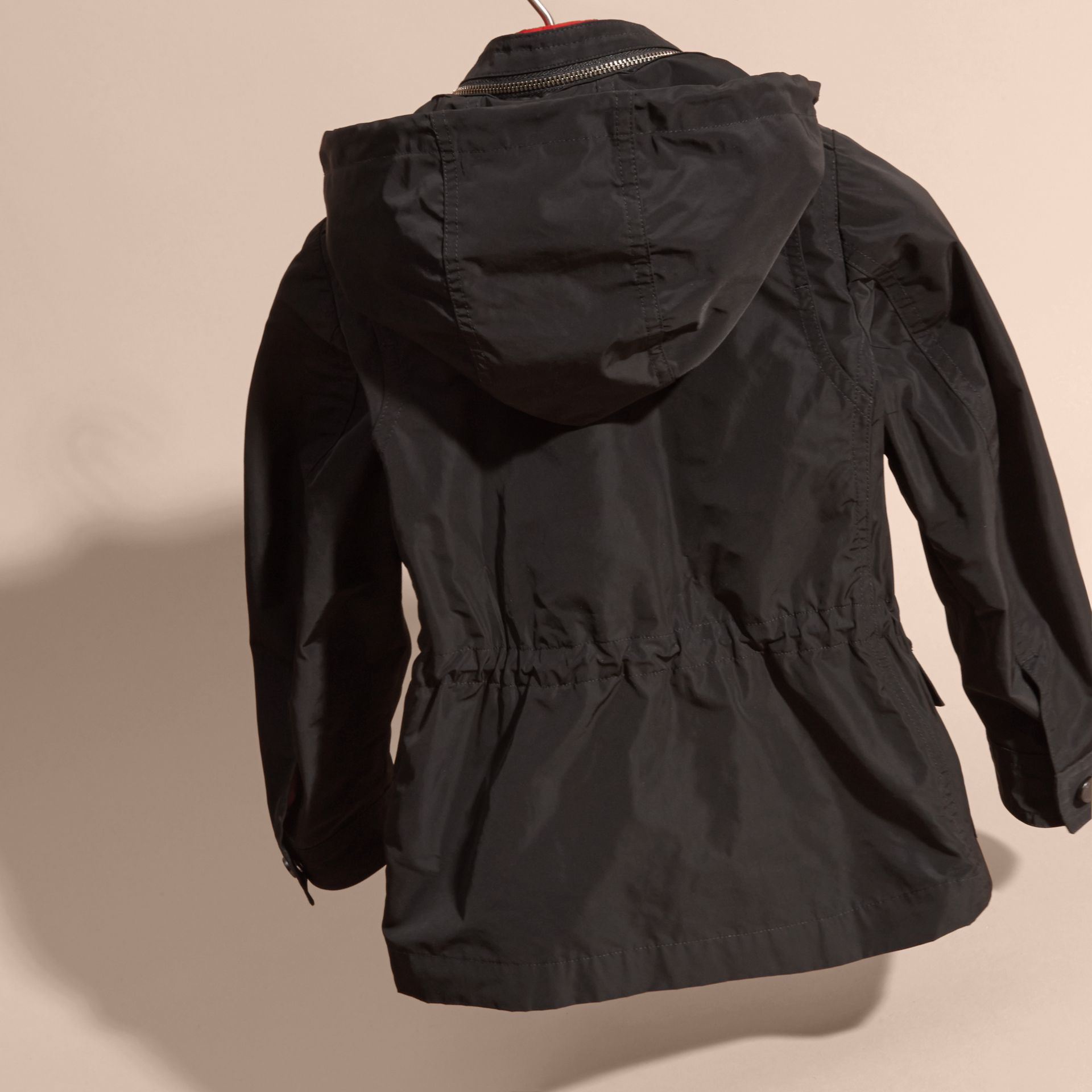 Black Showerproof Field Jacket with Detachable Down-filled Warmer - gallery image 4