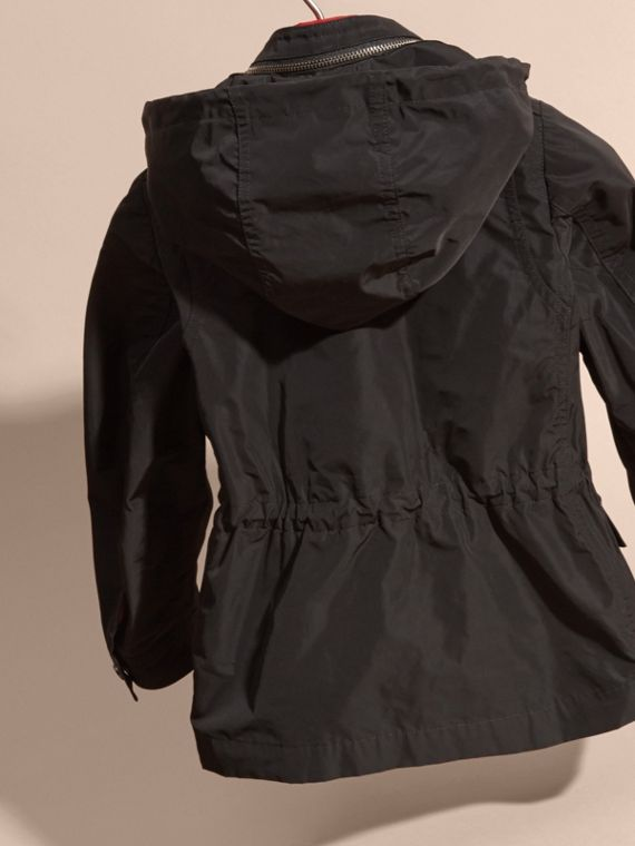Black Showerproof Field Jacket with Detachable Down-filled Warmer - cell image 3