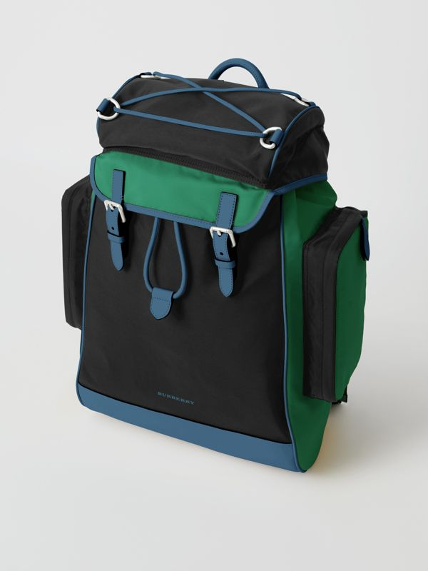 Tri-tone Nylon and Leather Backpack in Black - Men | Burberry Australia - cell image 2