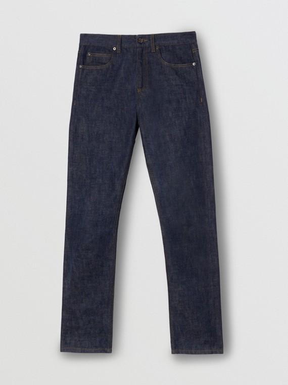 直版剪裁日本布邊丹寧牛仔褲 (靛青)