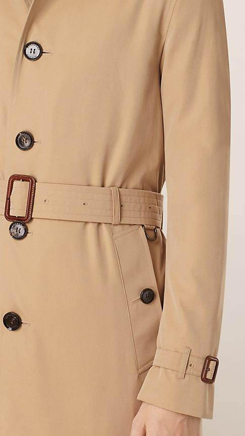 Honey Cotton Gabardine Trench Coat - Image 4
