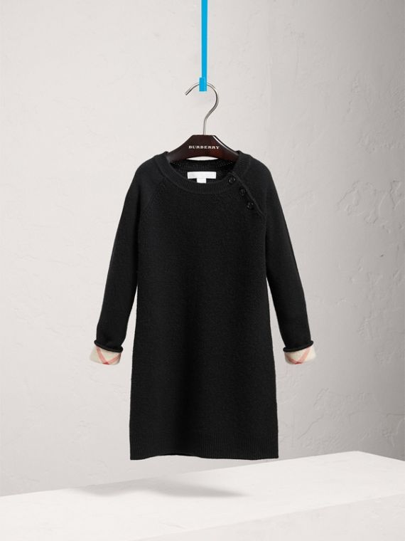 Cashmere Sweater Dress in Black - Girl | Burberry United Kingdom - cell image 2