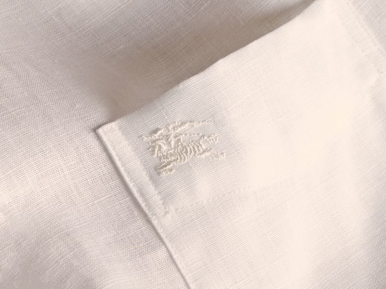 Check Detail Linen Shirt White - cell image 1