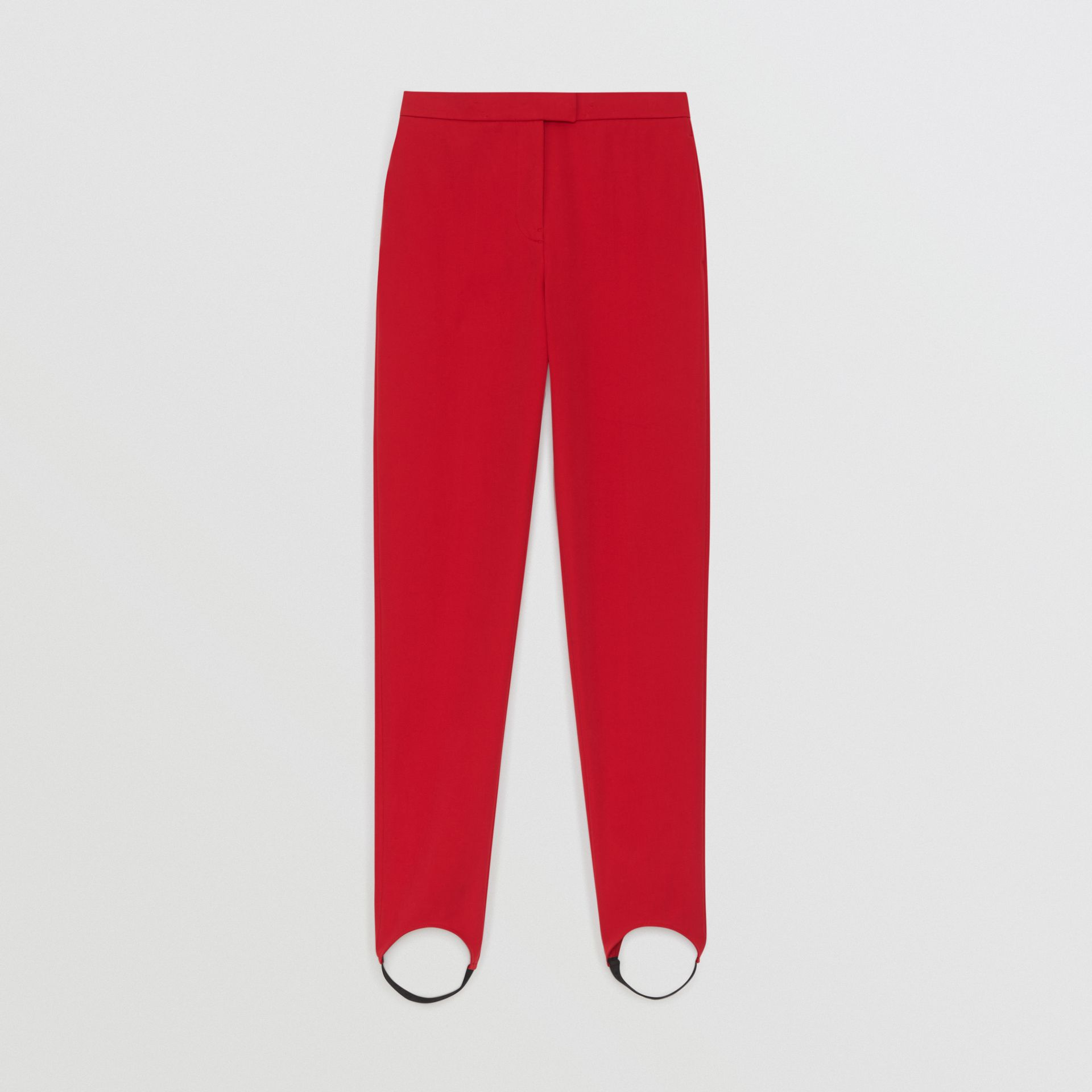 Long Cotton Blend Tailored Jodhpurs in Bright Red - Women | Burberry United Kingdom - gallery image 3