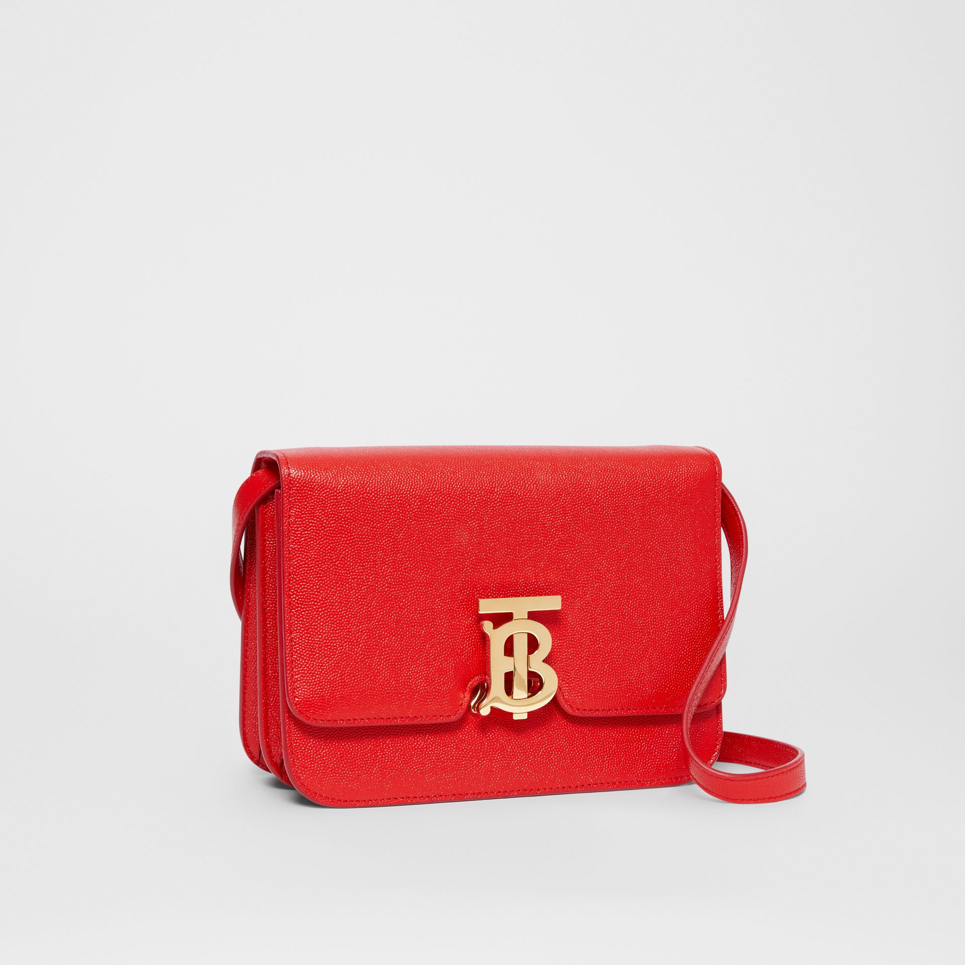 Small Grainy Leather TB Bag in Bright Red - Women | Burberry Australia - gallery image 6