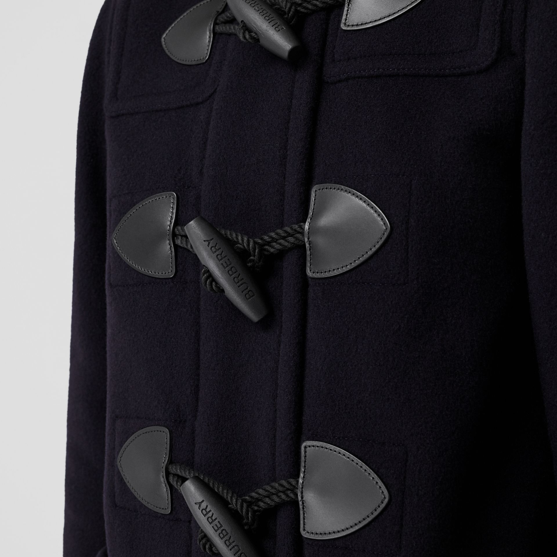 Wool Blend Duffle Coat in Navy - Women | Burberry - gallery image 4